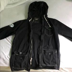 Parka jacket-Navy Blue